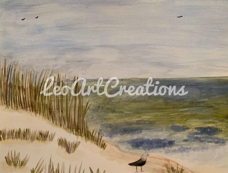 Landscape Beach Dune Leo Art Creations