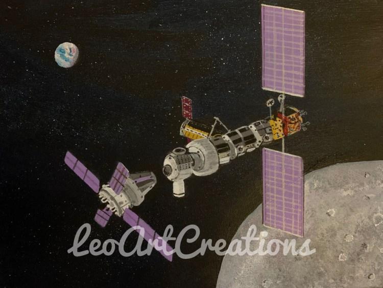 Lunar Gateway Leo Art Creations