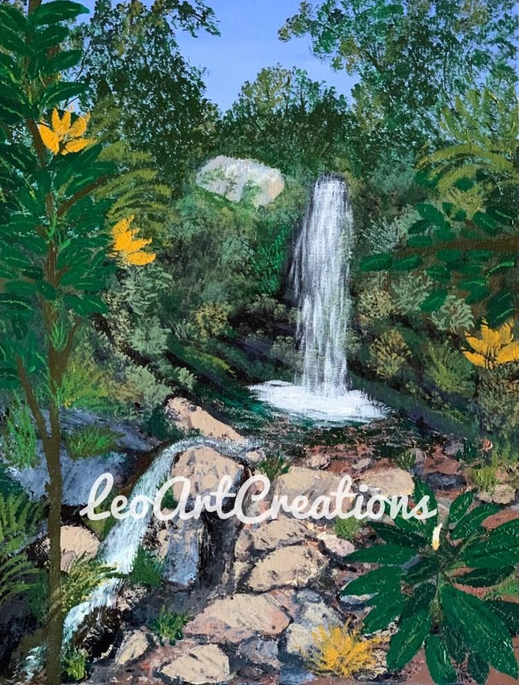 Puerto Rico Waterfall Leo Art Creations
