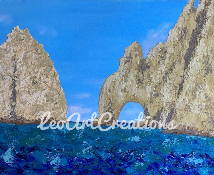 Landscape Arch of Cabo San Lucas 003 Leo Art Creations