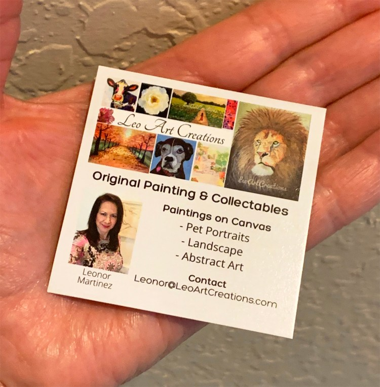 Leo Art Creations Business Card Front