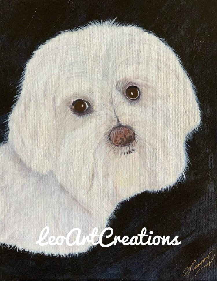 Lily Pet Portrait, four-legged baby, Leo Art Creations