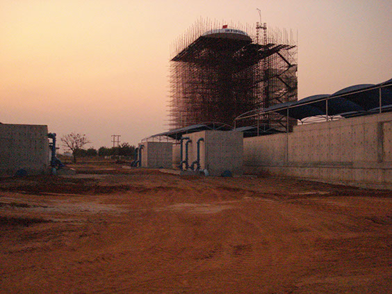 Construction of Water Tower