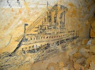 odessa catacombs painting of the wall