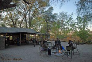 Verblijf in het onderzoekskamp van de Botswana Predator Conservation Trust.