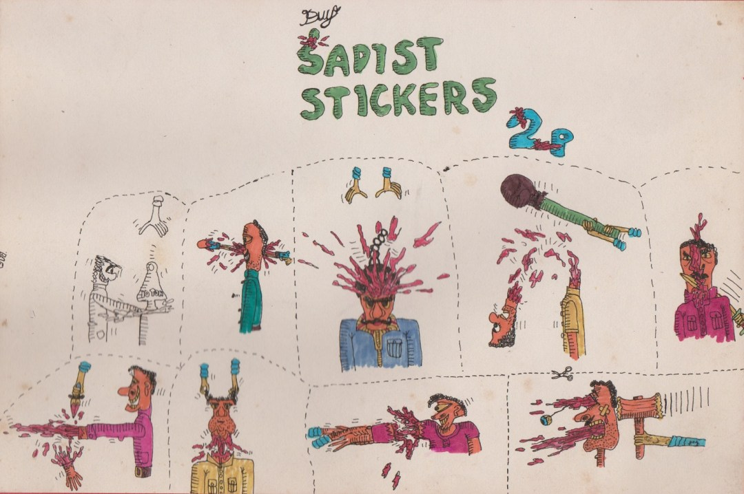 Sadist Stickers - Leo Hartas