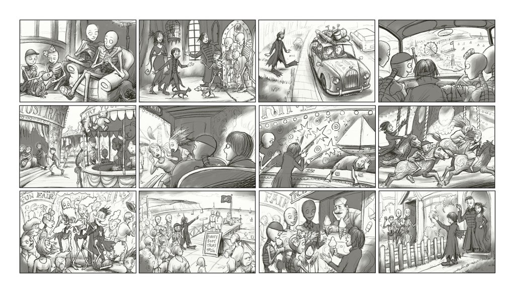 Leo Hartas - Skellies Seaside - Storyboard