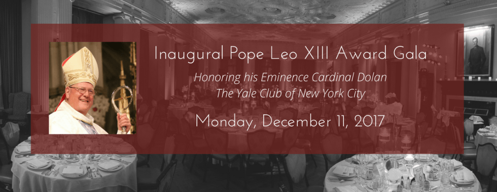 Pope Leo XIII Award Gala Save Date