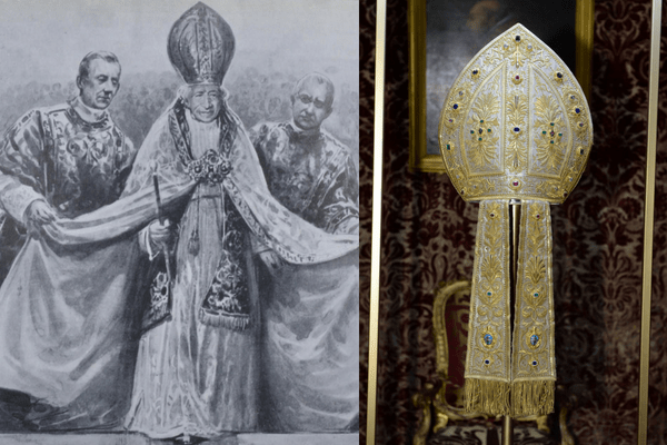 Pope Leo XIII Mitre Met Catholic Fashion Exhibit Heavenly Bodies