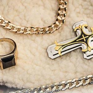 Комплект ДОМИНИК : Крест + цепочка + браслет и кольцо
