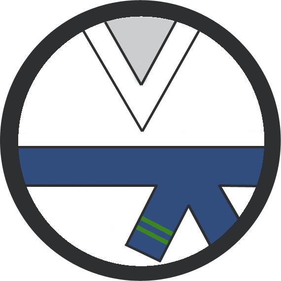 Leominster Martial Arts Blue Belt 2 Green stripe icon