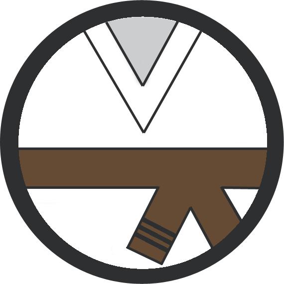 Leominster Martial Arts Brown Belt 3 Black stripe icon