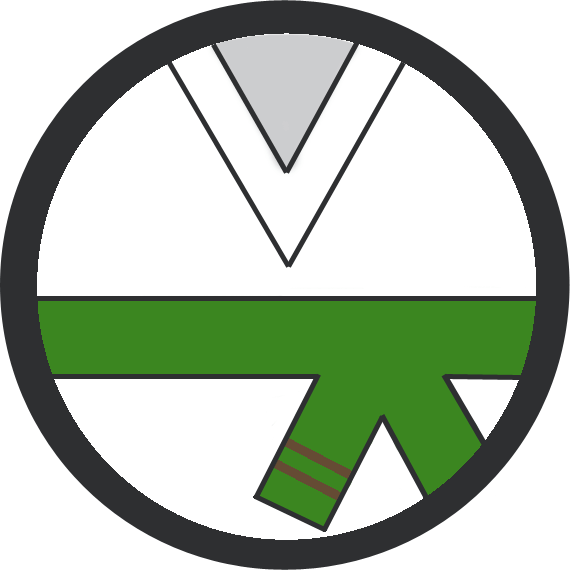 Leominster Martial Arts Green Belt 2 Brown stripe icon