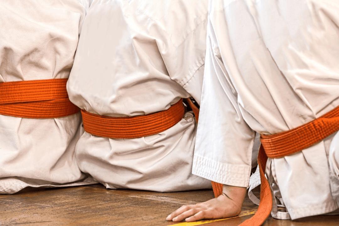Leominster Martial Arts Three Students Sitting Orange Belt