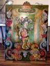 Punch, 2013, acrylic, mixed media on canvas