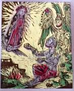 """Nossa Senhora de Guadalupe, 2014, 9 by 12"""""""