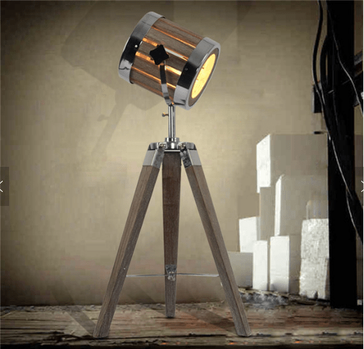 Leonard & Hazel™ Spotlight Lamp w: Adjustable Tripod