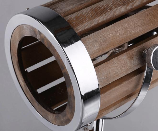 Leonard & Hazel™ Wooden Spotlight Lamp - Up close