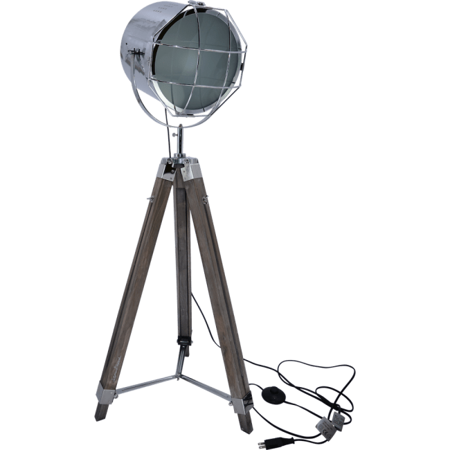 Nordic American Adjustable Tripod Searchlight Lamp by Leonard & Hazel
