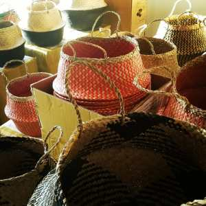 Leonard & Hazel™ Seagrass Belly Baskets