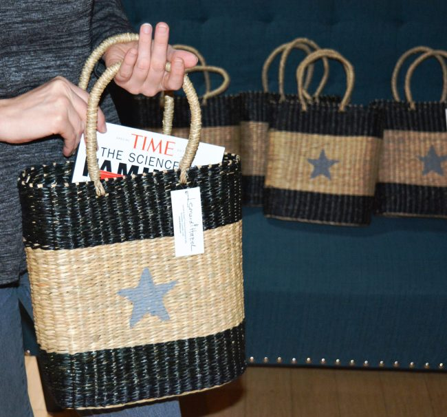 Star Basket holding magazines