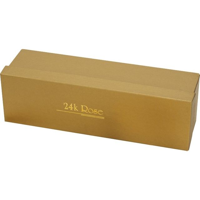 24K Gold-Plated Rose Box
