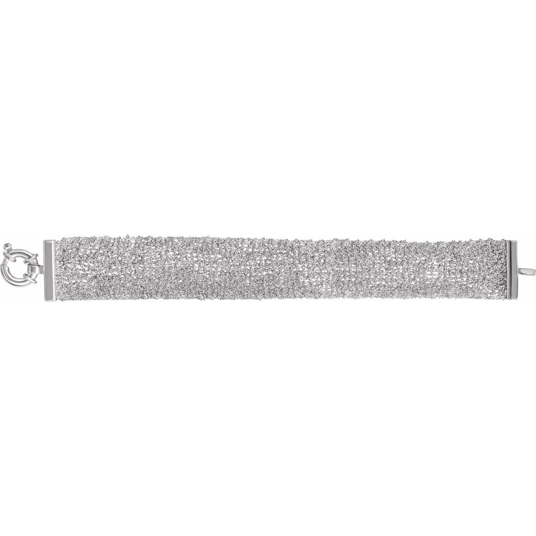 """Sterling Silver Rolo Scarf 7"""" Bracelet"""