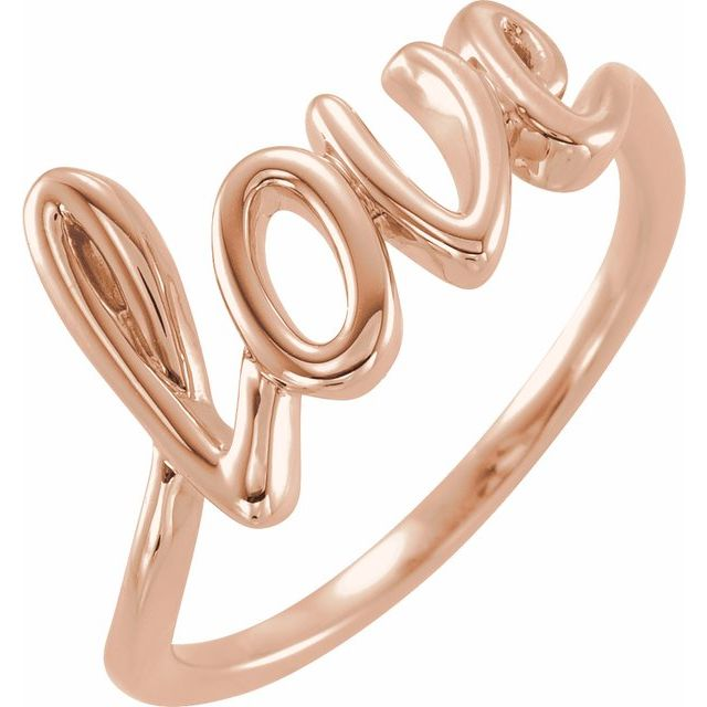 14K Rose Gold Love Ring from Leonard & Hazel™