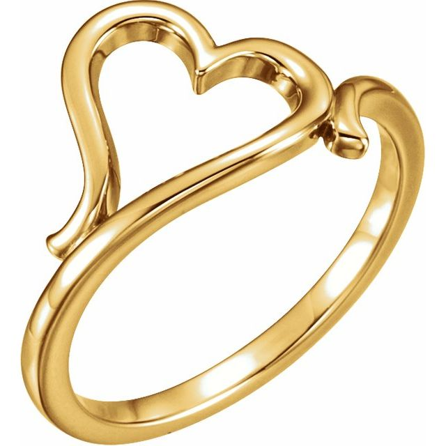 14K Yellow Gold Heart Ring from Leonard & Hazel™