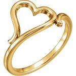 14K Yellow Gold Heart Ring from Leonard & Hazel™
