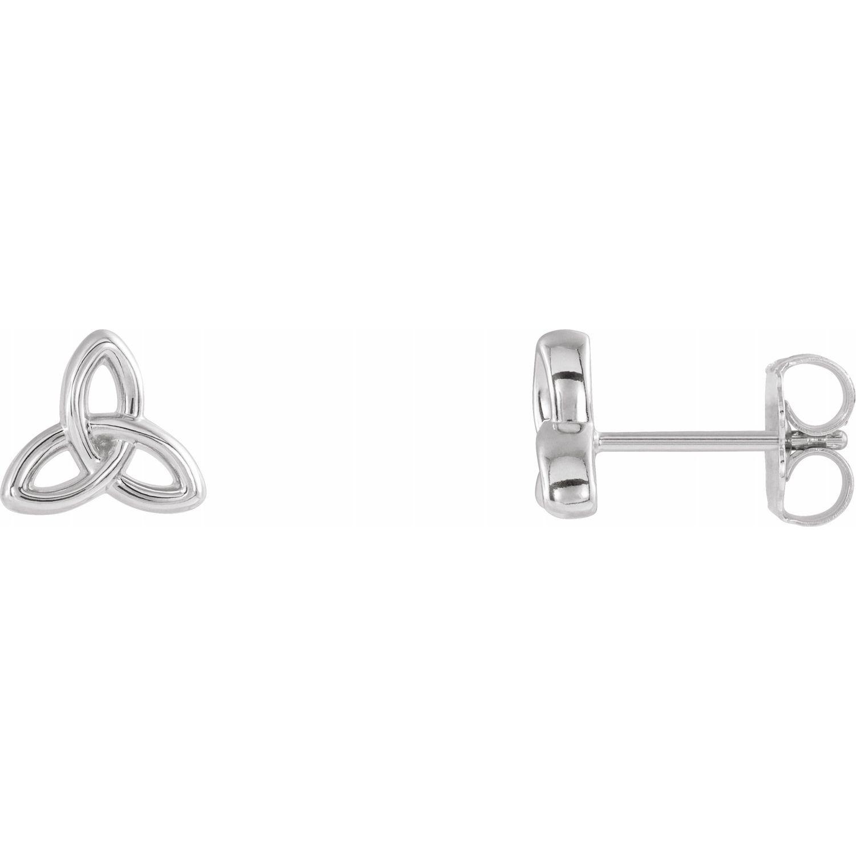 Platinum Celtic-Inspired Trinity Earrings from Leonard & Hazel™