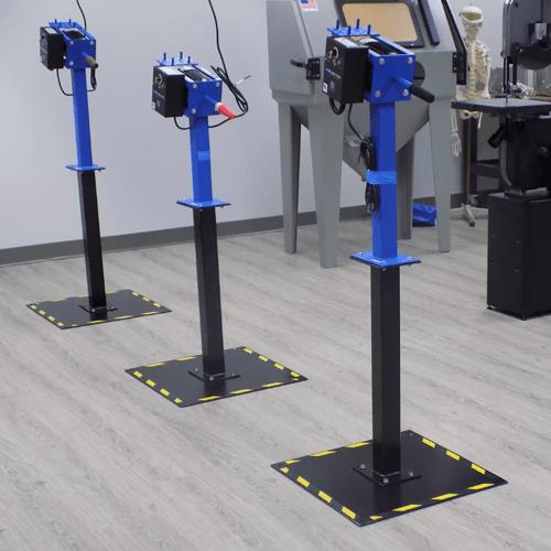 Floor stand with bench grinders
