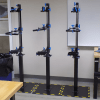Prosthetic alignment fixture on floor stand