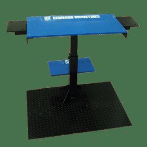 Adjustable steel table