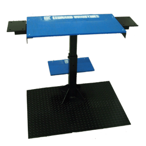 Adjustable steel table