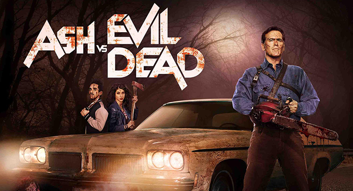 Bruce Campbell, Ray Santiago and Dana DeLorenzo in Ash vs Evil Dead