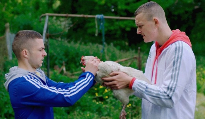 Alex Murphy and Chris Walley in The Young Offenders