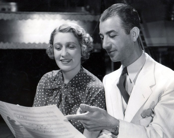 Ruth Etting with popular bandleader Gus Arnheim in the early 1930s