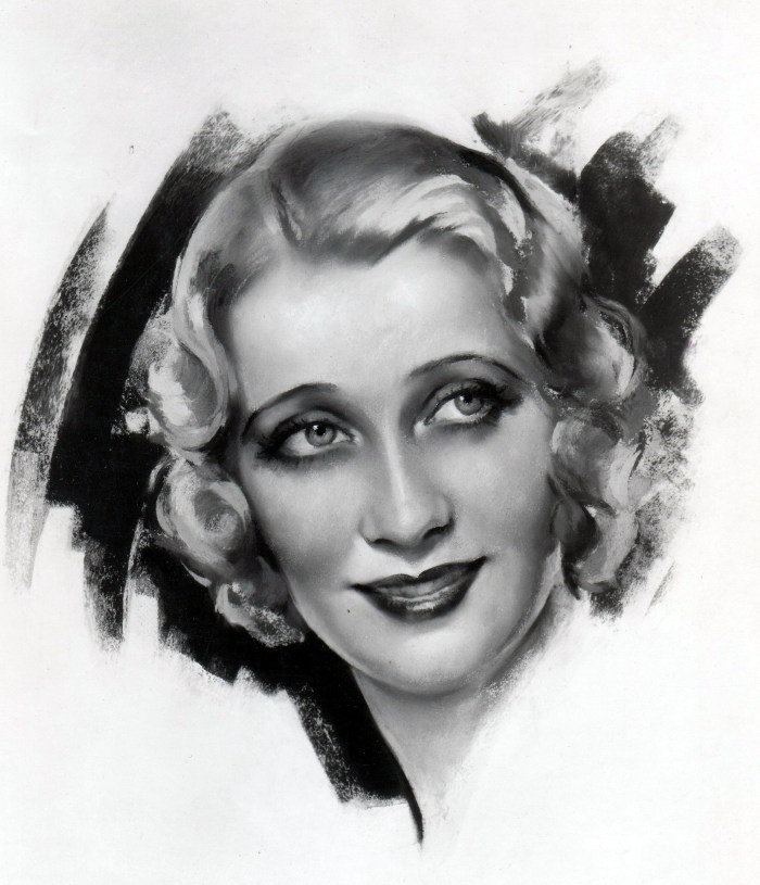 """An unknown artist's rendering of """"the sweetheart of song,"""" Ruth Etting"""