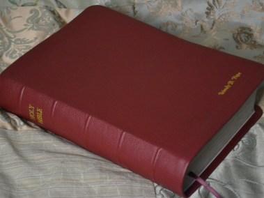 Dark Red Pebble Grain Cowhide Bible