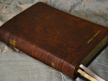 Tan Hand-Dyed Rustic Goatskin Bible