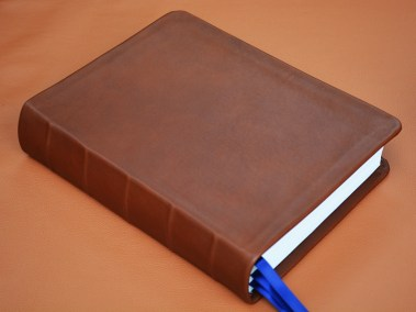 Brown Smooth Calfskin Bible