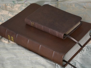 Thicker Glossy Chocolate Soft-Tanned Goatskin Bibles