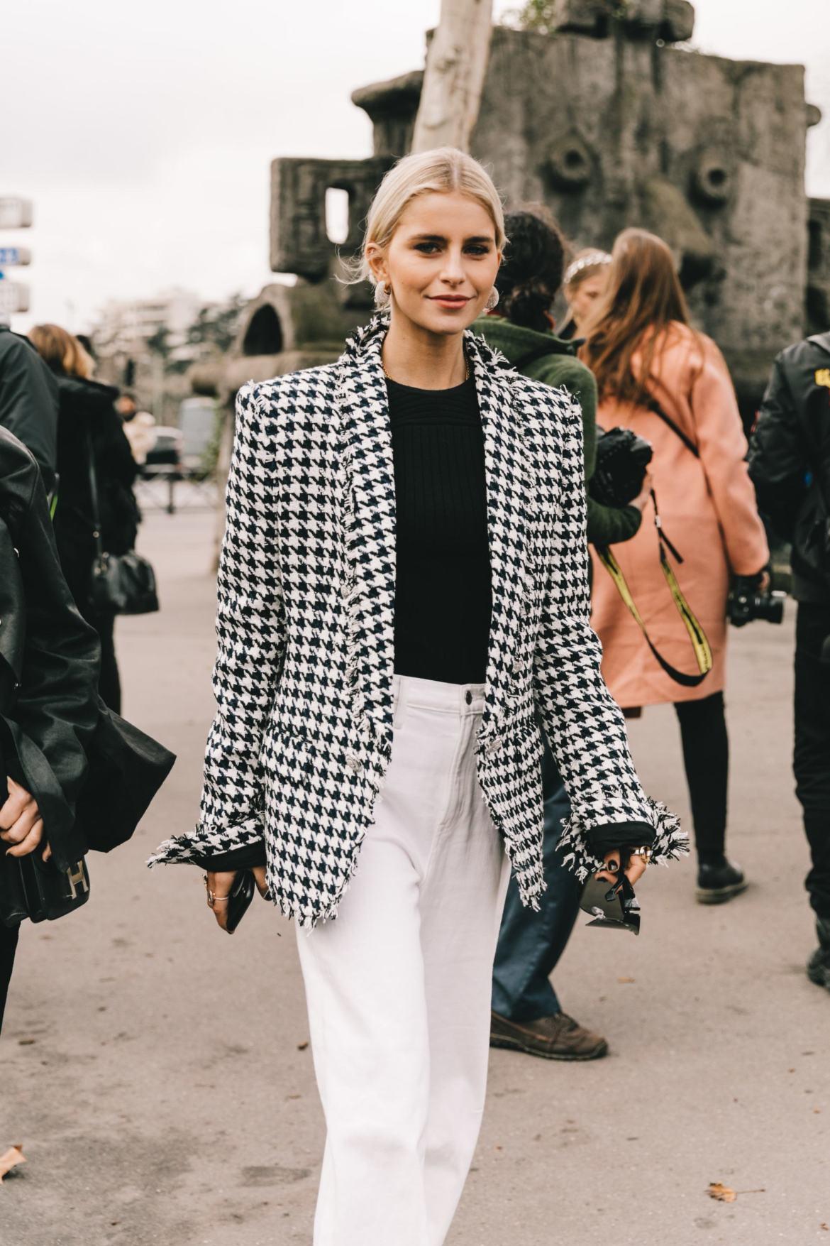 paris street style winter wool blazer
