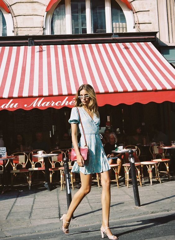 parisian with a french summer wrap dress