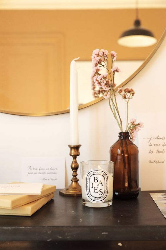 parisian apartment with candles