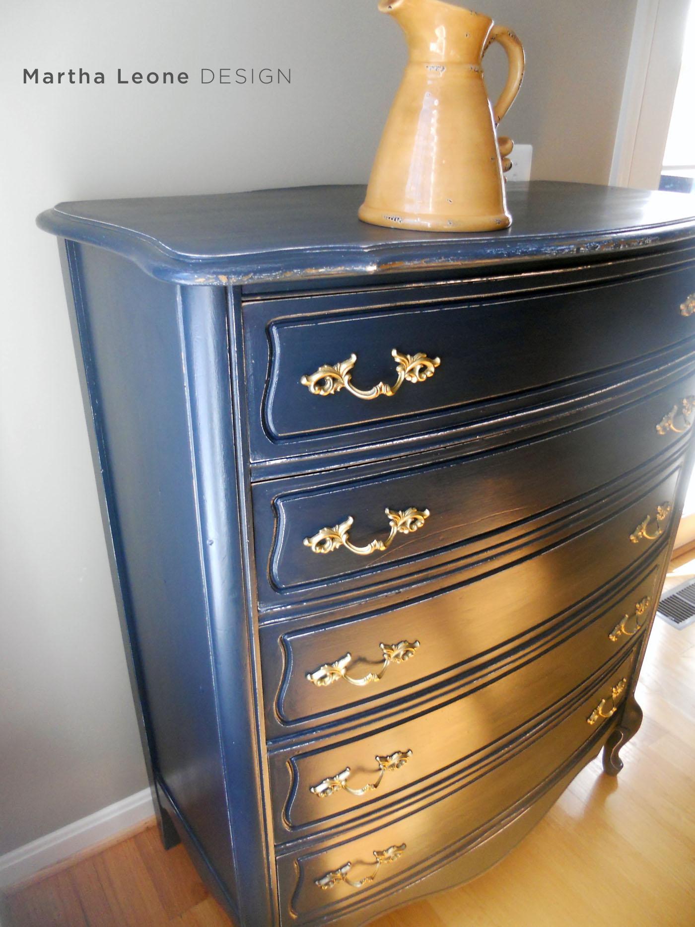 Blue French Dresser Martha Leone Design