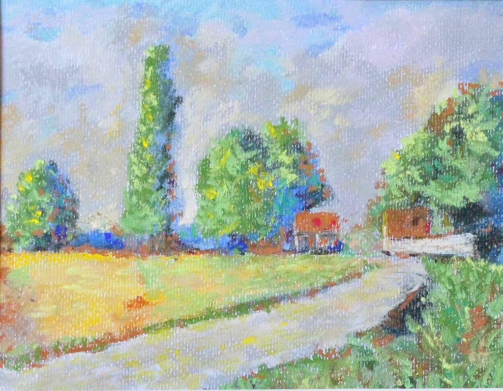 south drawing pastel landscape
