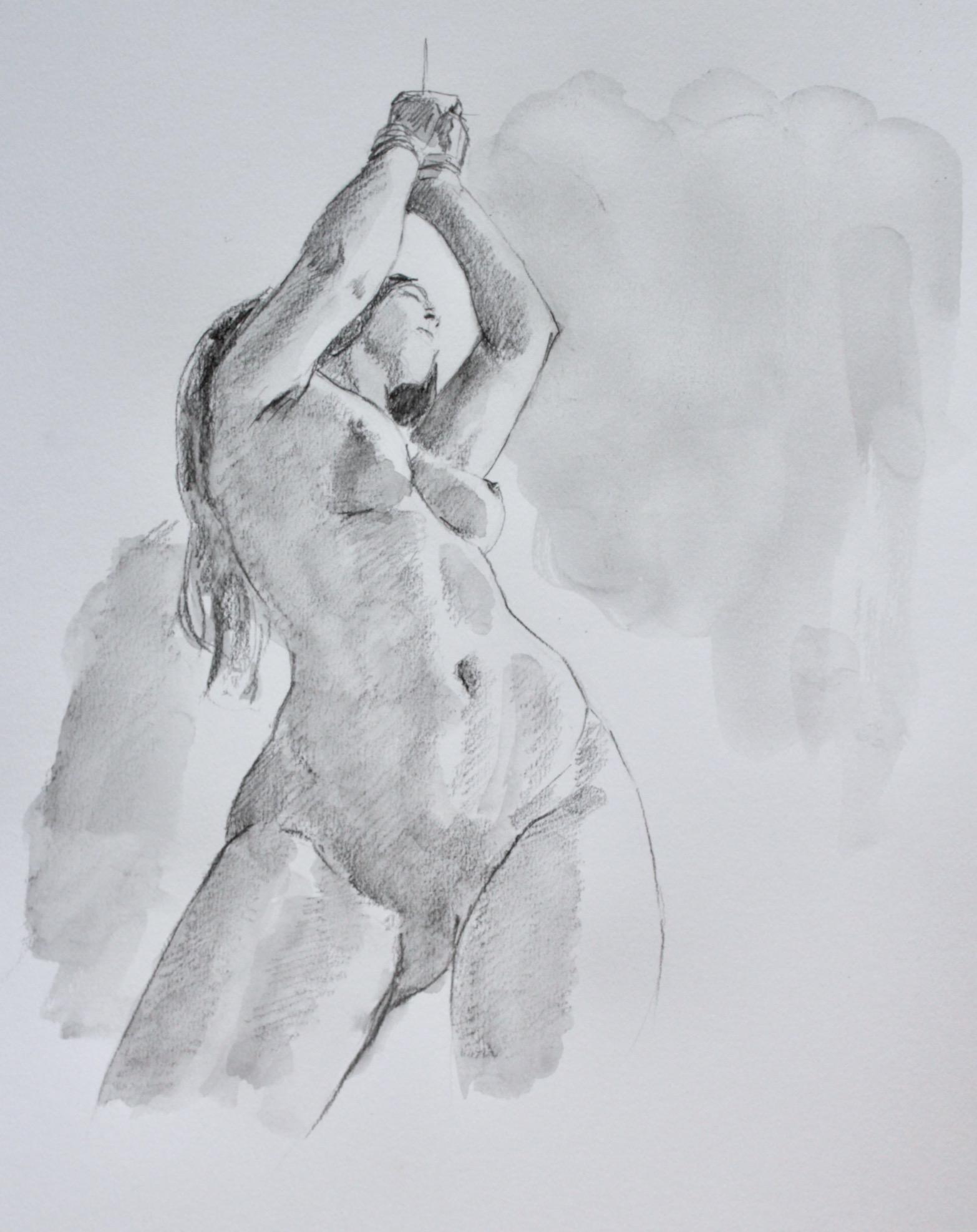 nude drawing art artistic nude girl
