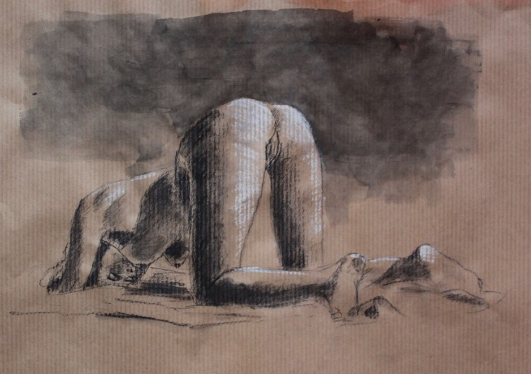 nude ass girl drawing I assume
